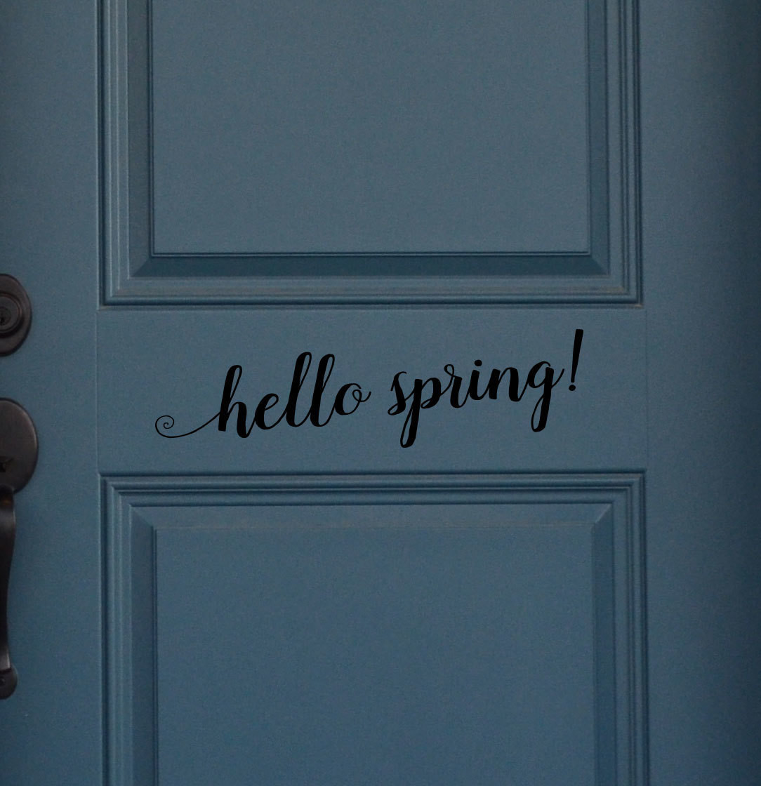 CLEARANCE Hello Spring 18 x 5 black
