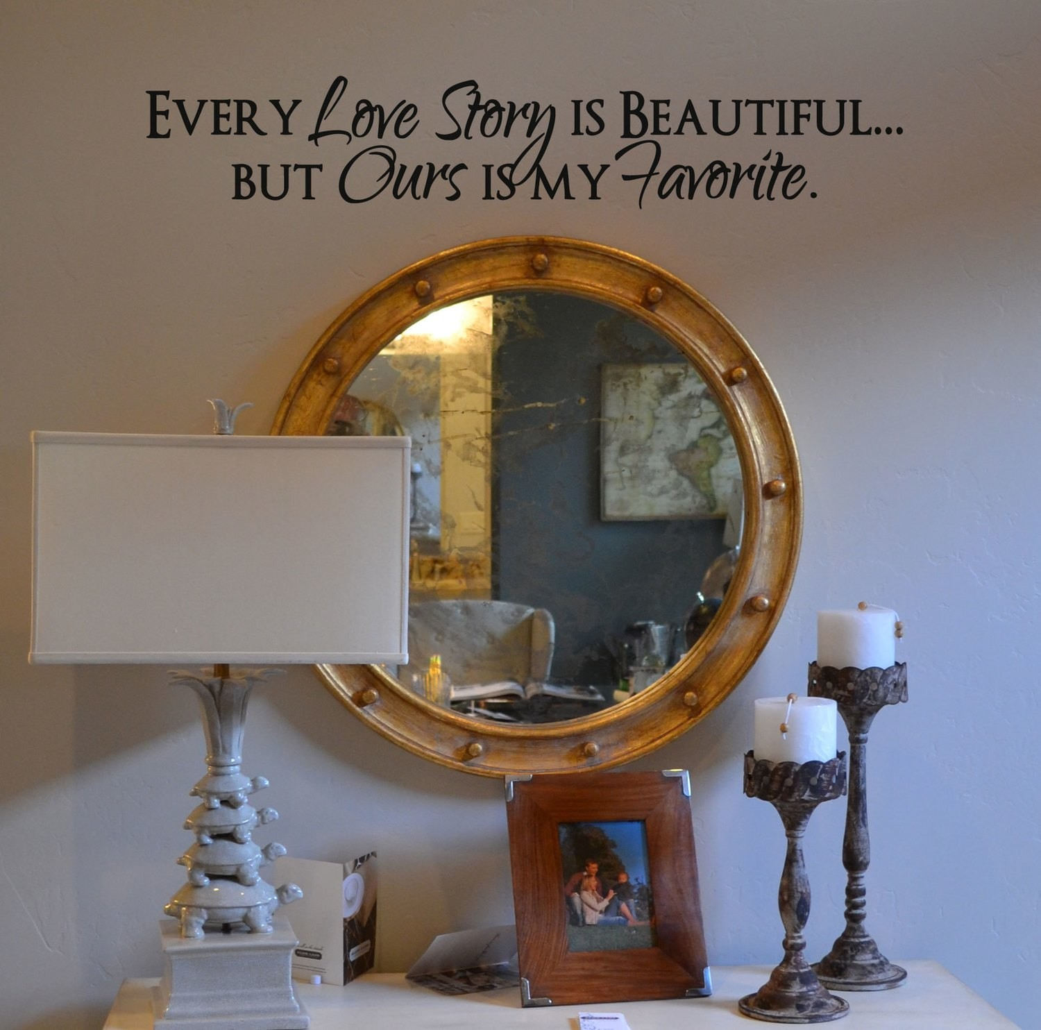 CLEARANCE Every love story is beautiful 30 x 5 black
