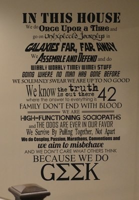 In this house...we do Geek vinyl wall decal sticker BM543