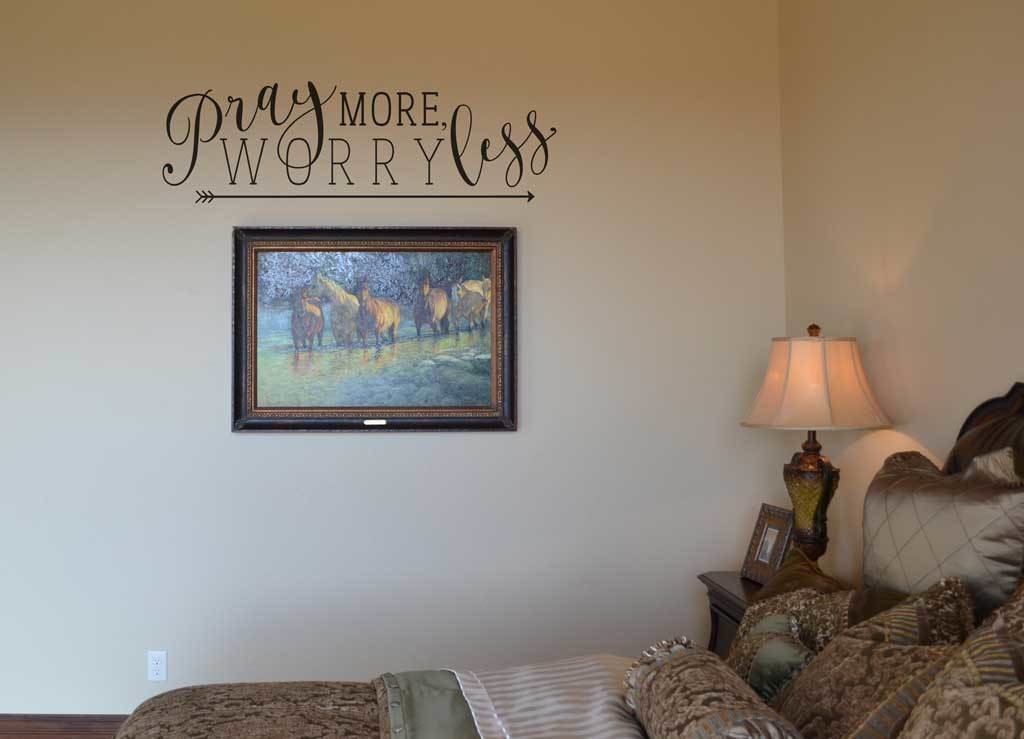 Pray more. Worry less wall decal sticker KW1244