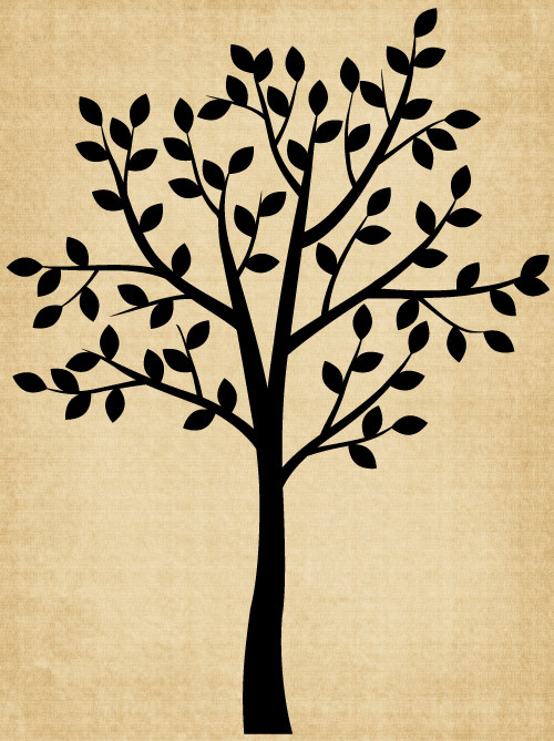 TR009 Tree with leaves