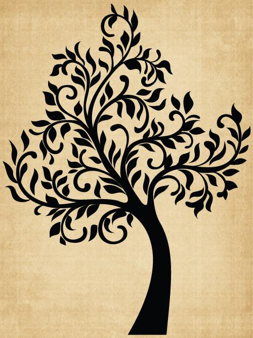 TR019 Tree with Swirls