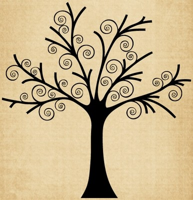 TR017 Tree with Swirls