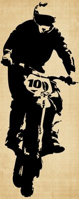 IM014 Dirt Bike Headed
