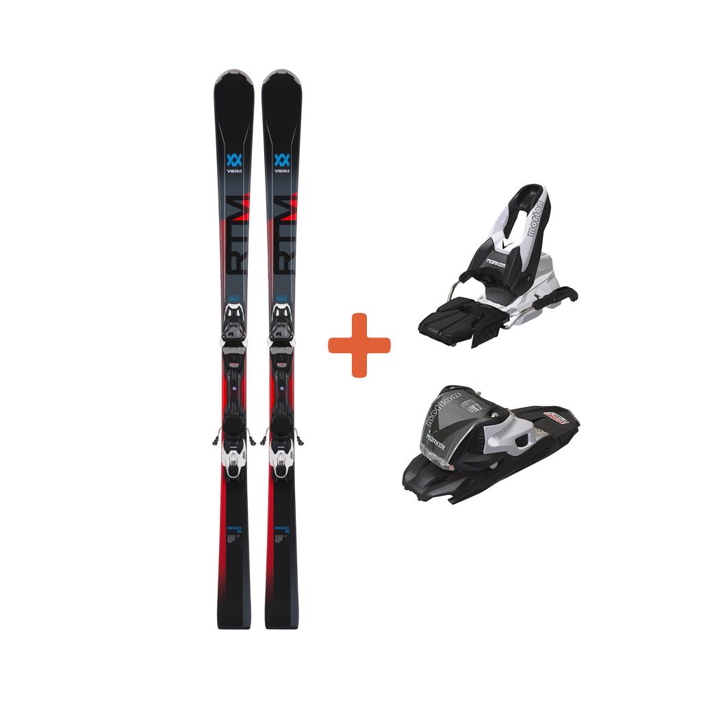 Volkl RTM 76 Elite Skis + VMotion2 10 GW Black Bindings