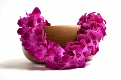 PURPLE DOUBLE ORCHID LEI