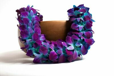 DOUBLE DYED ORCHID LEI IN 6 COLORS
