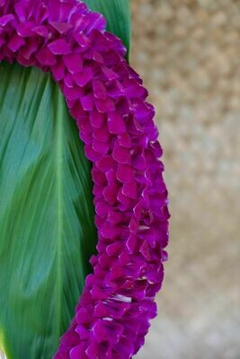 PURPLE SPIRAL LEI