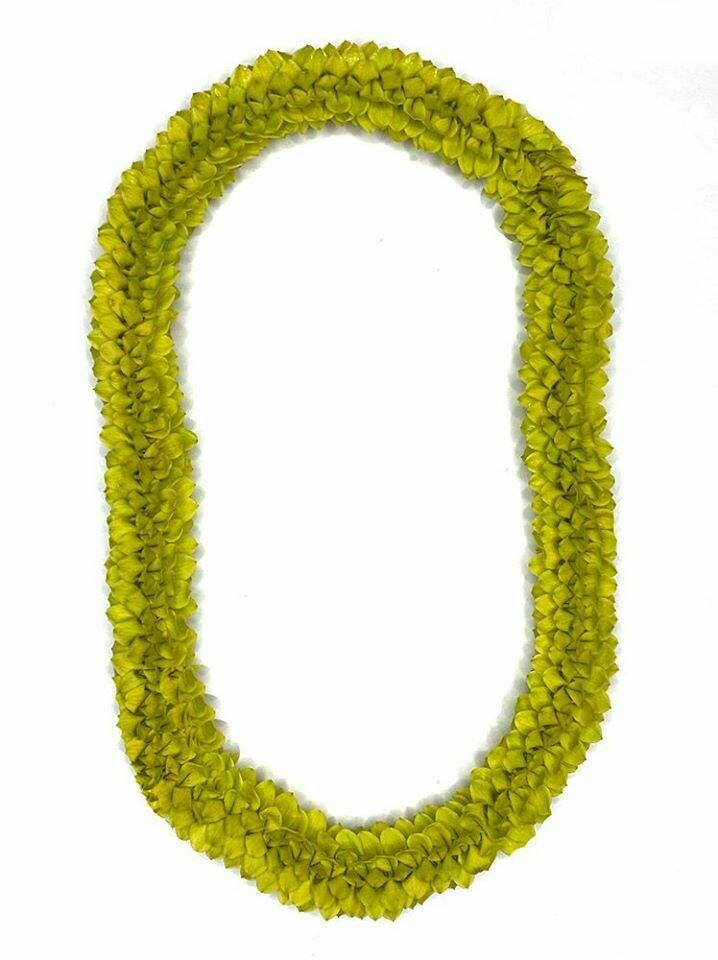 GREEN SPIRAL LEI