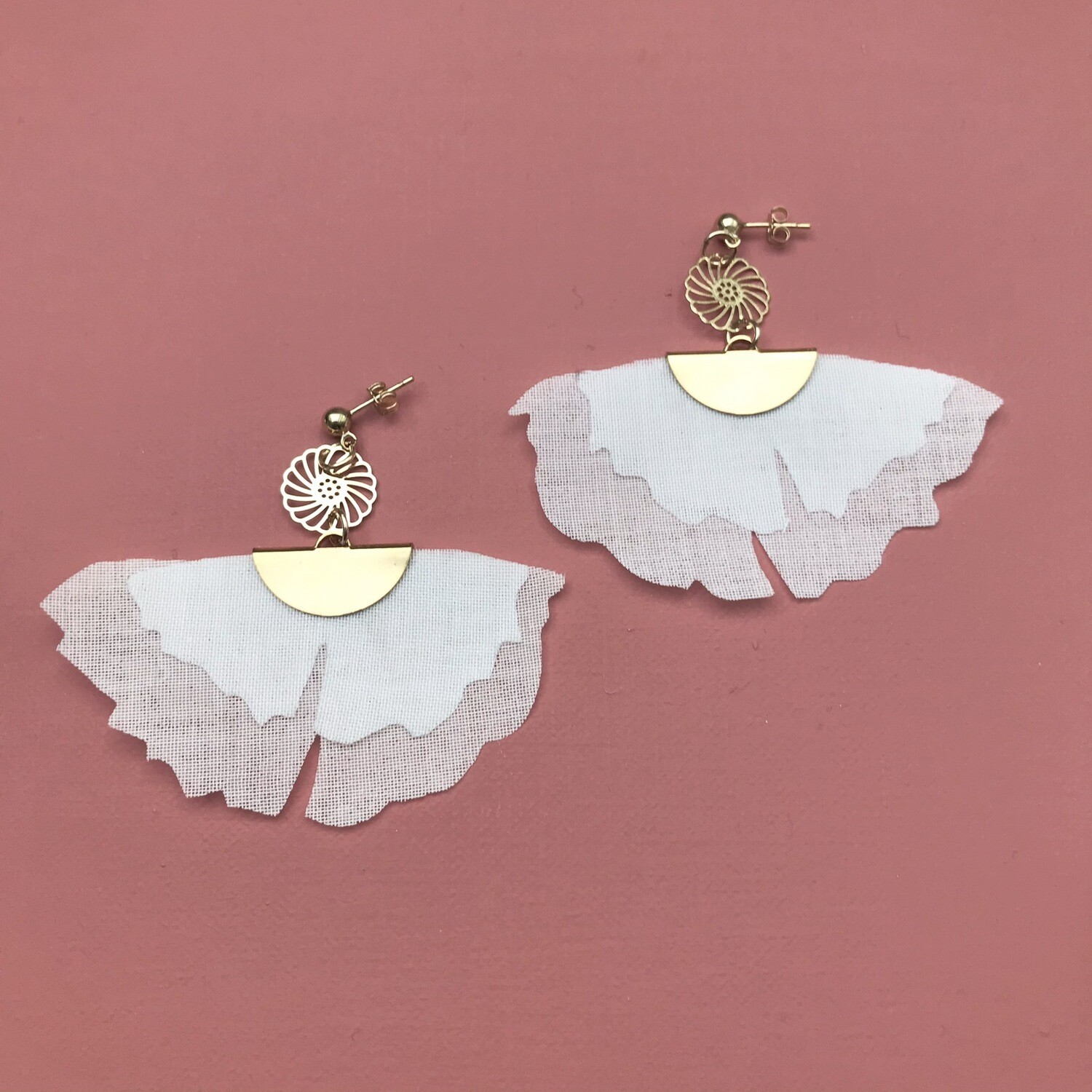 Boucles Ginko blanches