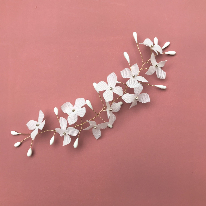 Ornement Hortense blanc