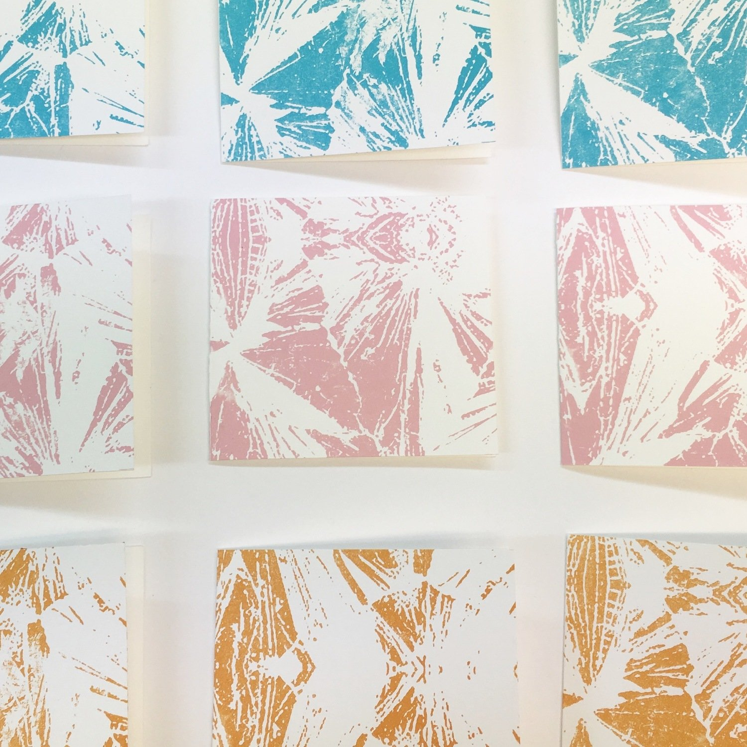 FORMATION screen printed greeting cards