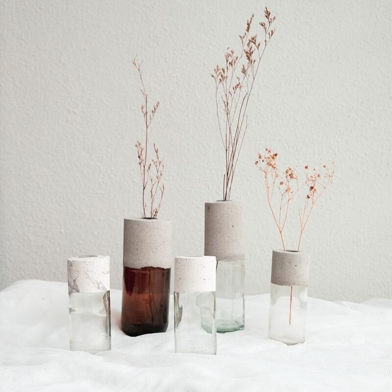 'Another Chance' concrete glass vase (Medium)