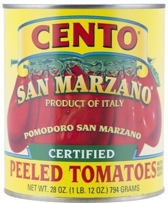 Cento Certified San Marzano Whole Peeled Plums Tomatoes