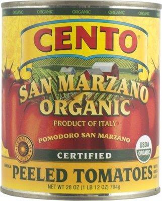 Cento Certified San Marzano Organic Whole Peeled Tomatoes