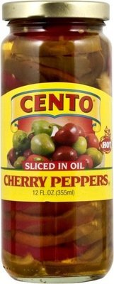 Cento Sliced Hot Cherry Peppers in Oil