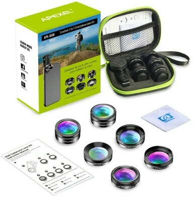 Apexel 6 in 1 Mobile Phone Combo Lens Pack