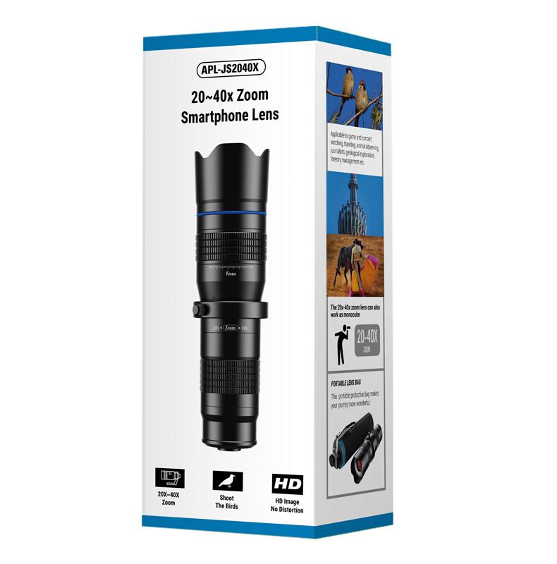 APEXEL HD 20x-40x Variable Zoom Telescope Telephoto Phone Lens + Mini Tripod [2020 NEW]