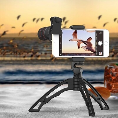 Apexel Mini Tripod for Phone Hard Plastic and Durable For Vlogging and Desk Shots