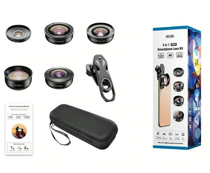 Apexel 5 in 1 Professional HD Mobile Phone Combo Lens