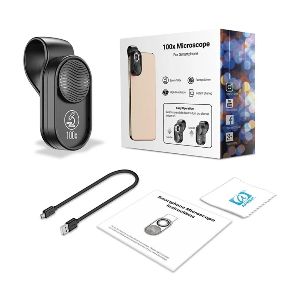 Apexel 100x Microscope/ Extreme Macro Phone Lens