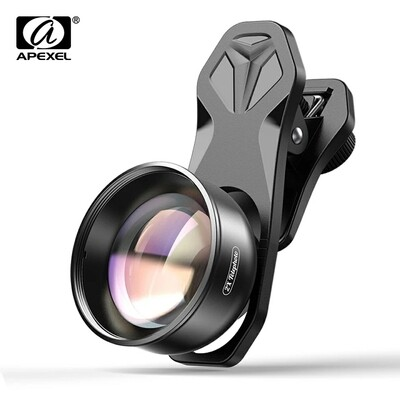 APEXEL 2X 60mm HD Portrait Pro Lens Telephoto Zoom Mobile Phone Lens + CPL + Star Filter