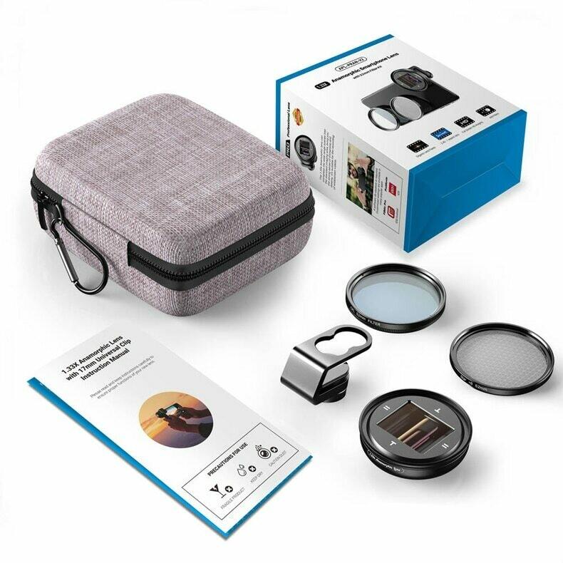 [Prebook] Apexel 1.33x Anamorphic Phone Lens for Mobile Filmmakers [New]