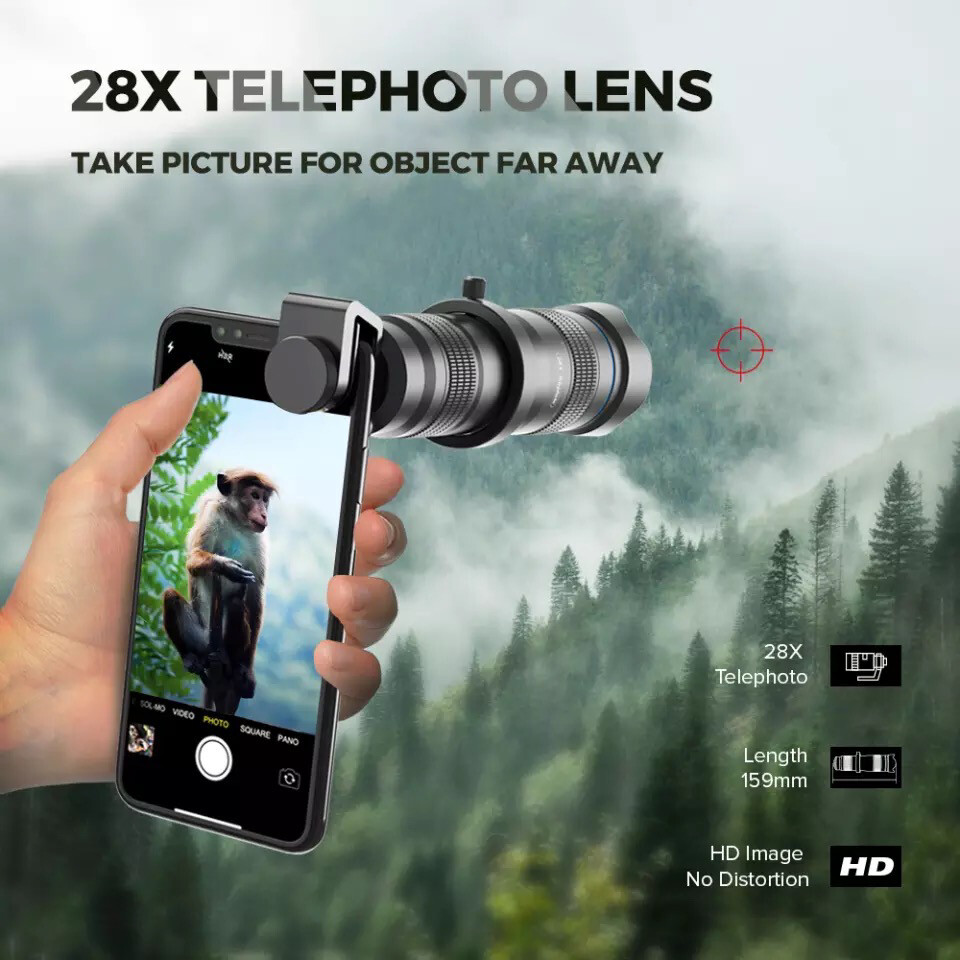 [Prebook] APEXEL 28X Super Zoom Moble Phone Lens (telescopic/ tele/ monocular)