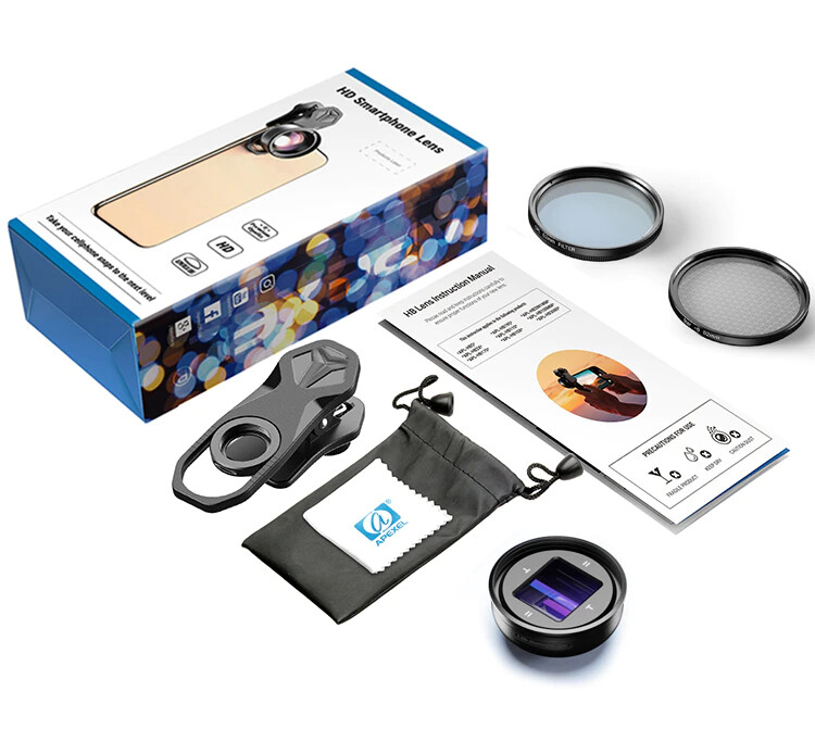 Apexel 1.33x Anamorphic Phone Lens for Mobile Filmmakers + 37mm Filters [New]