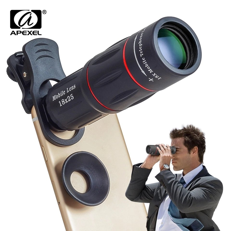 [Prebook] Apexel 18x Super Zoom Telephoto Telescopic Phone Lens with Tripod