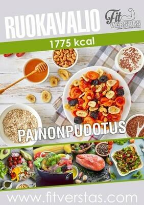 Ruokavalio 1775 kcal