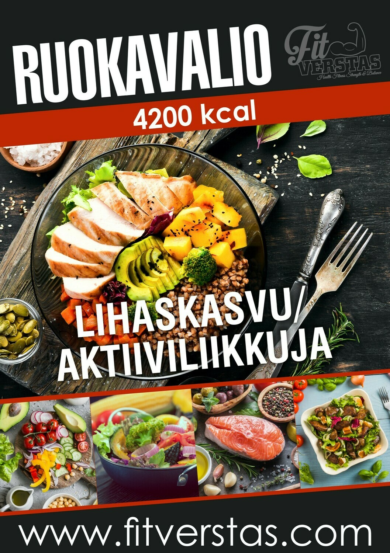 Ruokavalio 4200 kcal