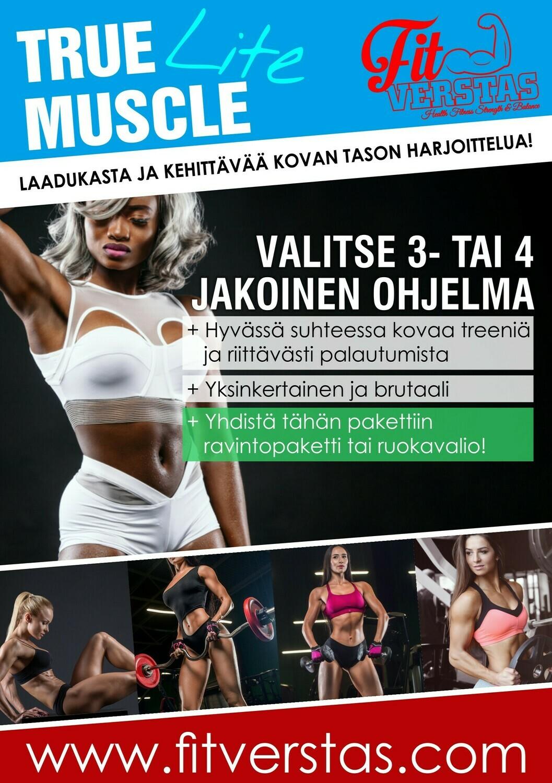 True Muscle 4-jakoinen taso 2