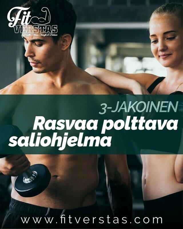 3-jakoinen rasvaa polttava saliohjelma