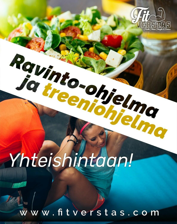 Räätälöity treeni- ja ravinto-ohjelma