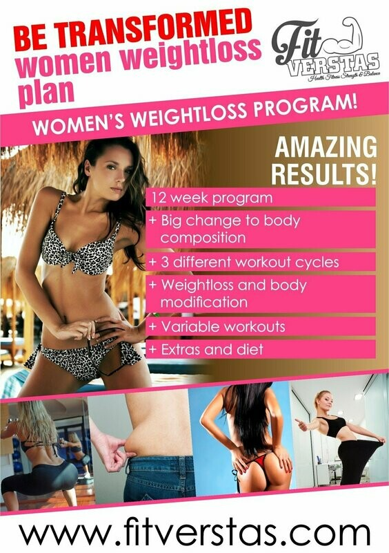 Be Transformed Women Weight loss Plan (GYM)
