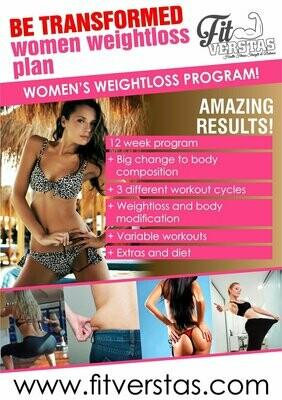 Be Transformed Women Weight loss Plan (HOME)