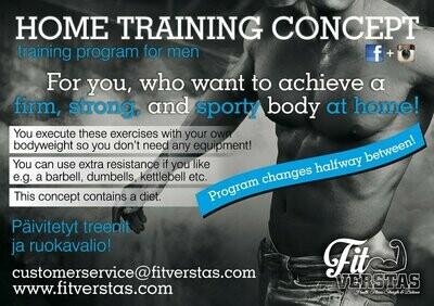 Home Training Concept for Men