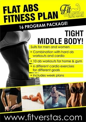 Flat Abs Fitness Plan (GYM+HOME)