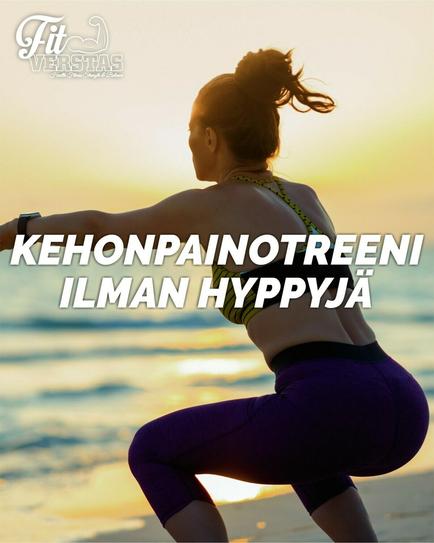 Kehonpainotreeni ilman hyppyjä