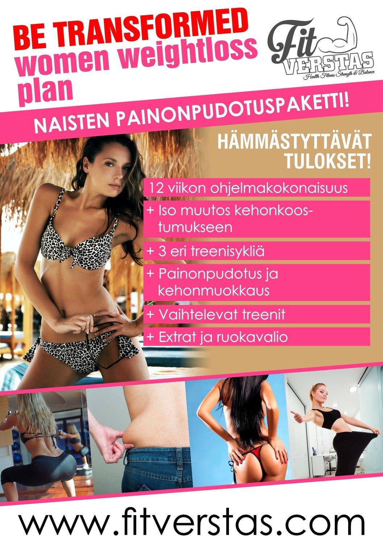 BE TRANSFORMED Women Weightloss Plan