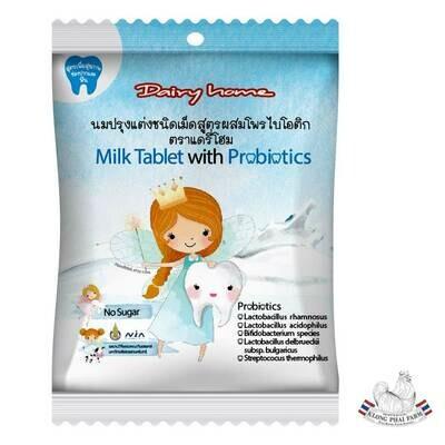 Organic milk tablet with probiotics