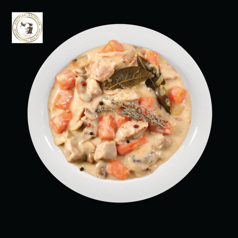 BLANQUETTE DE POULET (chicken in cream sauce) 1 PORTION deep-frozen