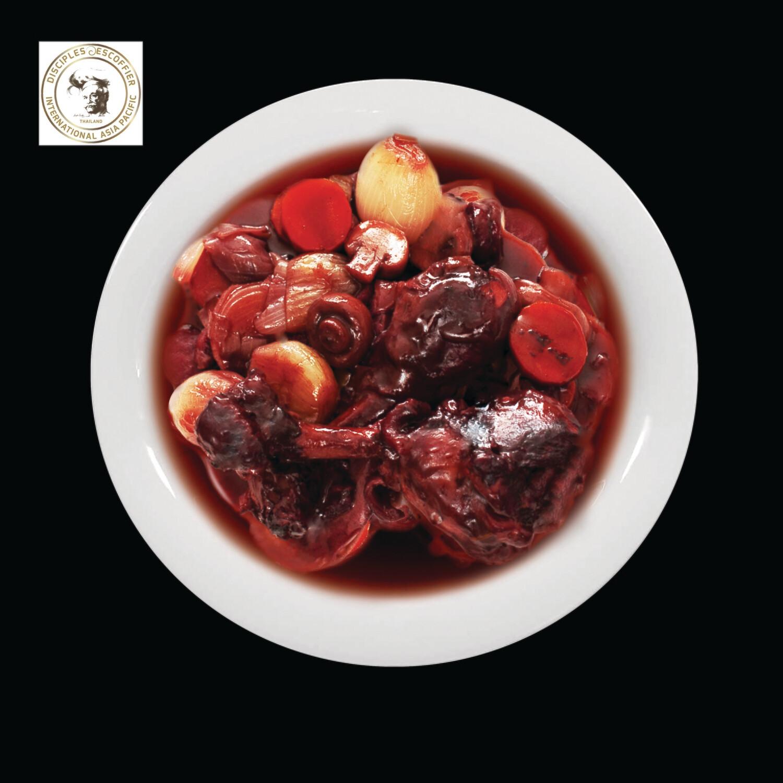 COQ AU VIN (chicken in red wine sauce) 1 PORTION deep-frozen