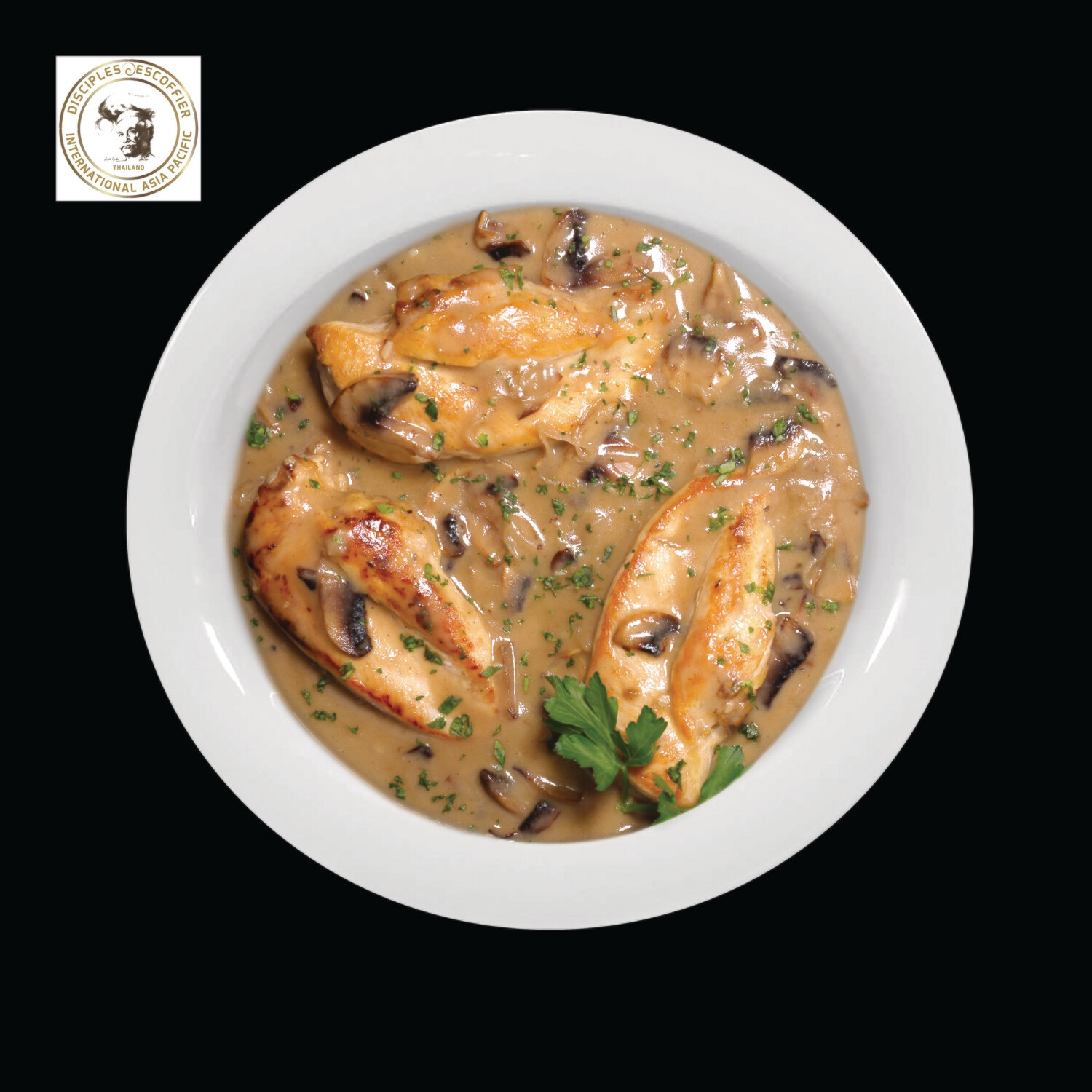 CANARD SAUCE FORETIERE (duck in mushroom sauce) 1 PORTION deep-frozen
