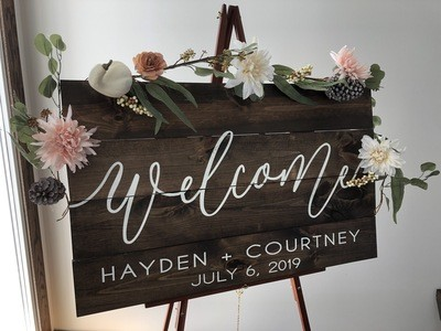 Welcome Sign (24in x 36in)