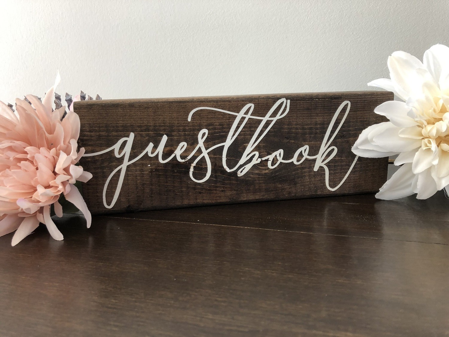 Guestbook Sign (2in x 4in x 10in)