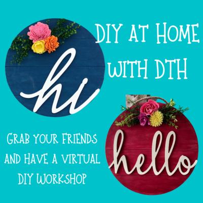 DIY at Home - Door Hanger Virtual Workshop