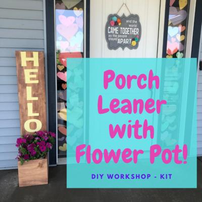 Porch Leaner with Flower Pot DIY Workshop