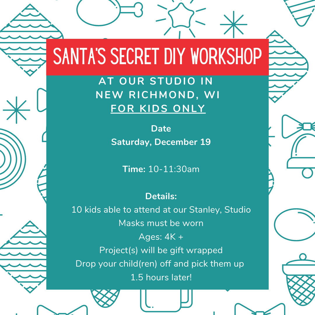 Santa Secret DIY Workshop - New Richmond - Dec 19